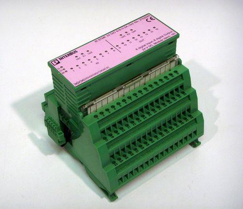 IB STME 24 DIO 8/8/3-2A mit Klemmblock